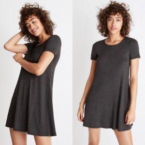 MADEWELL Swingy Tee Dress Charcoal Gray Minimalist